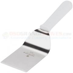 Victorinox 40429 Mini Turner Spatula (2.5x2.5 Inch High Carbon Stainless Steel Turner) White Polypropylene Handle