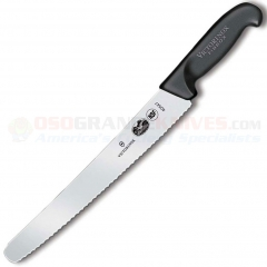 Victorinox Forschner 40547 Bread Knife, Black Fibrox Handle, 10.25 Inch Wavy Edge Blade