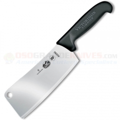 Victorinox 40590 Restaurant Cleaver (7 x 2.5 Inch High Carbon Stainless Steel Blade) Black Fibrox Handle