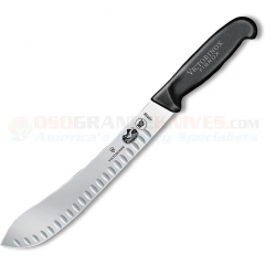 Victorinox 40638 Butcher Knife (10 Inch Straight Granton Edge High Carbon Stainless Steel Blade) Black Fibrox Handle