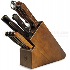 Victorinox 46153 11-Piece Kitchen Knife Block Set (Rosewood Handles)