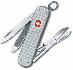 Victorinox Swiss Army Classic SD Multi-Tool Key-Ring Knife (58mm 2.25 Inches Closed) Ribbed Silver Alox Handle 53012