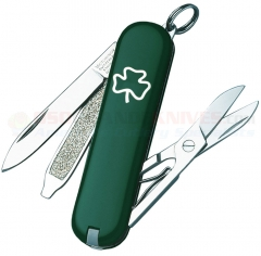 Victorinox Swiss Army Classic SD Multi-Tool Key-Ring Knife (58mm 2.25 Inches Closed) Shamrock 53014
