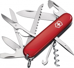 Victorinox Swiss Army Huntsman Multi-Tool Pocket Knife (91mm 3.62 Inches Closed) Red Handle 53201