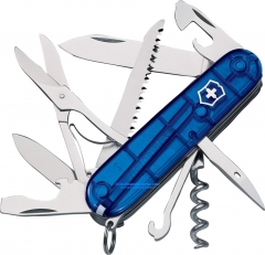 Victorinox Swiss Army 53206 Huntsman Multi-Tool Knife (3.6 in. 91mm Closed) Translucent Sapphire Handle VN53206