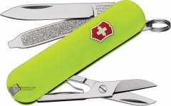 Victorinox Swiss Army Classic SD Multi-Tool Key-Ring Knife (58mm 2.25 Inches Closed) StayGlow Handle 53208