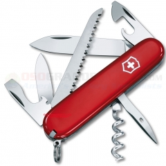 Victorinox Swiss Army Camper Multi-Tool Pocket Knife (91mm 3.5 Inch Closed) Red Handle 53301