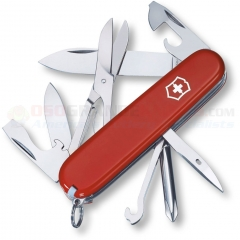 Victorinox Swiss Army Super Tinker Multi-Tool Knife (91mm 3.5 Inch Closed) Red ABS Handle 53341 VN14703033X1
