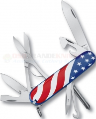 Victorinox Swiss Army Super Tinker US Flag Multi-Tool (91mm 3.5 Inches Closed) Red/White/Blue Stars & Stripes ABS Handle 53342 VN147032E1X1