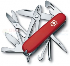 Victorinox Swiss Army Deluxe Tinker Multi-Tool Knife (91mm 3.5 Inches Closed) Red ABS Handle 54481 VN14723033X1