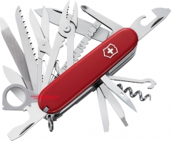 Victorinox Swiss Army SwissChamp Multi-Tool Pocket Knife (3.58 Inch | 91mm Closed) Red Cellidor Handle VN16795X4 53501