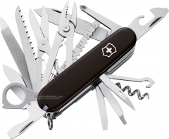 Victorinox Swiss Army SwissChamp Multi-Tool Pocket Knife (3.58 Inch | 91mm Closed) Black Handle 53503