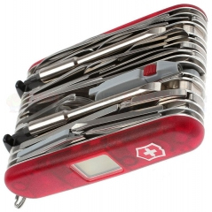 Victorinox Swiss Army 53509 SwissChamp XAVT Multi-Tool (3.58 Inches Closed) Translucent Ruby Handle + Gift Box 1.6795.XAVT