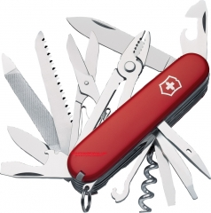 Victorinox Swiss Army Handyman Multi-Tool Pocket Knife (91mm 3.6 Inch Red Cellidor Handle) 53722
