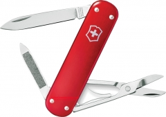 Victorinox Swiss Army Money Clip Multi-Tool Pocket Knife (2.91 Inches Closed) 74mm Red Alox Handle 53739