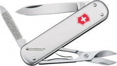 Victorinox Swiss Army Money Clip Multi-Tool Pocket Knife (2.91 Inches Closed) 74mm Silver Alox Handle 53740