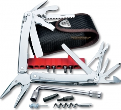 Victorinox Swiss Army Swisstool Spirit Plus Multi-Tool (4.13 Inches Closed) 38 Implements + Black Nylon Sheath 53804
