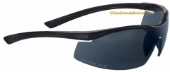 Boker Swiss Eye F-18 M/P Sunglasses (Smoke Class 3 Polycarbonate Lens + Spare Clear Lens) Black Coated Frame 09SE40241