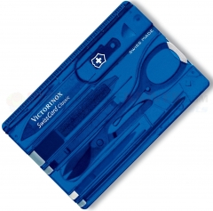 Victorinox Swiss Army Swiss Card Multi-Tool (3.2 x 2.1 Inches) Translucent Sapphire 53928