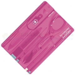 Victorinox Swiss Army Swiss Card Multi-Tool (3.2 x 2.1 Inches) Translucent Pink VN07199T5RX1 53930
