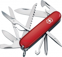 Victorinox Swiss Army Fieldmaster Multi-Tool Knife (91mm 3.58 Inches Closed) Polished Red Cellidor Handle 53931