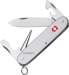 Victorinox Swiss Army Pioneer Multi-Tool Pocket Knife (91mm 3.6 Inch Silver Alox Aluminum Handle) 53960