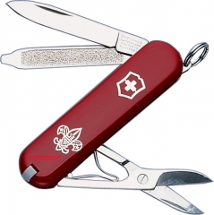Victorinox Swiss Army Classic SD Boy Scout Multi-Tool Key-Ring Knife (58mm 2.25 Inches Closed) Red Handle
