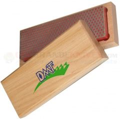 DMT W6F Diamond Whetstone Bench Stone Sharpener (6x2 Inch Red Fine Grit) with Hardwood Case DMTW6F