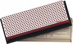 DMT W6FP Diamond Whetstone 6x2 Inch with Plastic Case, Red Fine Grit