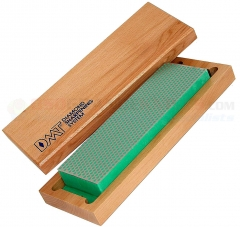 DMT W8E Diamond Whetstone Bench Stone Sharpener (8 x 2.62 Inch Green Extra-Fine Grit) with Hardwood Storage Box/Base DMTW8E