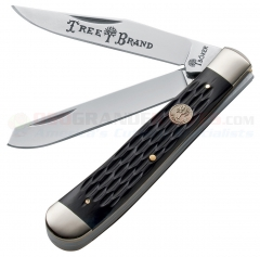 Boker 110733 Trapper Pocket Knife, Black Jigged Bone Handle