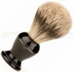 Edwin Jagger 1EJ366 English Shaving Brush, Super Badger, Imitation Ebony, Medium