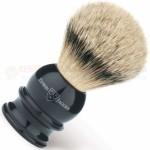 Edwin Jagger 5EJ466 English Shaving Brush, Silver Tip Badger, Imitation Ebony, X-Large