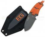 Gerber Bear Grylls Survival Knife Fixed (3.25 Inch Gray Plain Blade) Paracord Handle + Plastic Sheath 31-001683