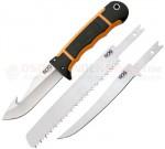 SOG HuntsPoint Exchange Hunting Knife Fixed (4.3 Inch Gut Hook-Fillet-Saw Blades) Zytel Handle   Nylon Sheath HT201N