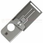 Spyderco C193TIP SquareHead Dog Tag Folding Knife (1.25 Inch S30V Stonewash Blade) Titanium Handle