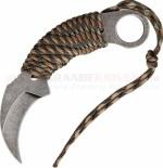 MTech Karambit Fixed (2.50 Inch 440 Hawkbill Blade) Camo Cord Wrapped Handle Nylon Belt Sheath MT670