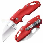 Cold Steel Tuff Lite Tri-Ad Lock Folding Knife (2.5 Inch AUS-8A Wharncliffe Satin Plain Blade) Red Griv-Ex Handle 20LTR