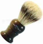 Edwin Jagger English Shaving Brush (21mm Super Badger Medium) 36mm Imitation Light Horn Handle 1EJ282