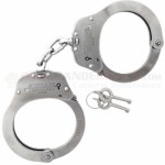 Schrade Professional Series Handcuffs (Police Issue Double-Lock Chained Link Stainless Steel Handcuffs) SCHC2N