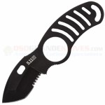 5.11 Tactical Sidekick Boot / Neck Knife Fixed (2.0 Inch AUS8 Tanto Black Combo Blade) Plastic Boot/Belt Sheath 51023