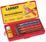 Lansky Deluxe Diamond Sharpening System (4-Stone Precision Knife Sharpening Kit) Extra Coarse, Coarse, Medium and Fine Diamond Hones LKDMD