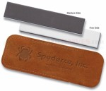 Spyderco Doublestuff Sharpening Pocket Stone Sharpener (1 x 5 Inch Medium & Fine Grit Ceramic) 303MF