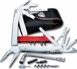 Victorinox Swiss Army Swisstool Spirit Plus Multi-Tool (4.13 Inches Closed) 38 Implements + Black Nylon Sheath 53804