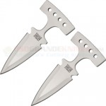 Combat Ready Two Piece Push Dagger Knife Set (3.5 Inch Double-Edge Blade) Stainless Steel T-Handle CO046S
